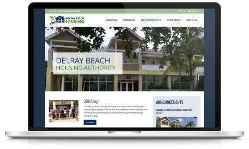Delray Beach Housing - Website Design